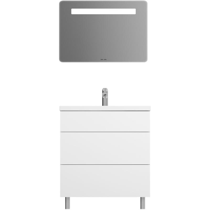 Gem 75 ОрехМебель для ванной<br>Комплект мебели AM PM Gem 75 с тумбой Gem 75 M90FSX07522NF цвета орех, с фактурной поверхностью, на двух хромированных ножках, с двумя выдвижными ящиками, с фарфоровой раковиной Gem 75 M90WCC0752WG, с зеркалом Gem 80 M90MOX0801WG с LED подсветкой. Для длительного срока службы в ванных комнатах с повышенной влажностью.<br>Тумба:<br>Дизайн от инновационной компании DanelonMeroni.<br>Безупречный баланс между функциональностью и дизайном.<br>Компактное решение: узкая база с глубокими ящиками.<br>Материал: высококачественный ДСП.<br>Покрытие: долговечные итальянские краски и эмали.<br>Специальная технология покраски в семь слоев.<br>Насыщенный цвет в течение всего срока службы.<br>Экологически чистые материалы.<br>Монтаж: комбинированный, крепление к стене и две ножки.<br>Удобный демонтаж без помощи инструментов, легкая регулировка.<br>Отделения:<br>верхнее: выдвижной ящик, разделители для удобного хранения;<br>нижнее: выдвижной ящик, один отсек.<br>Система Push to Open: ящики открываются нажатием на любую их часть.<br>Система Soft-Close: доводчики для плавного закрывания.<br>Максимальная нагрузка на ящик в сегменте: до 35 кг.<br>Надёжное соединение направляющей и ящика при помощи фиксатора.<br>Зеркало: <br>Подсветка: верхняя, LED, выключатель. <br>Монтаж: подвесной, крепление к стене на двух навесах.<br>Раковина:<br>Материал: сантехнический фарфор. Покрытие: глазурь. <br>Гигиеничная, износостойкая, плотная и гладкая поверхность.<br>Одно готовое отверстие под смеситель, перелив. <br>В комплекте поставки:<br>тумба Gem 75 M90FSX07522NF;<br>зеркало Gem 80 M90MOX0801WG;<br>раковина Gem 75 M90WCC0752WG.<br>