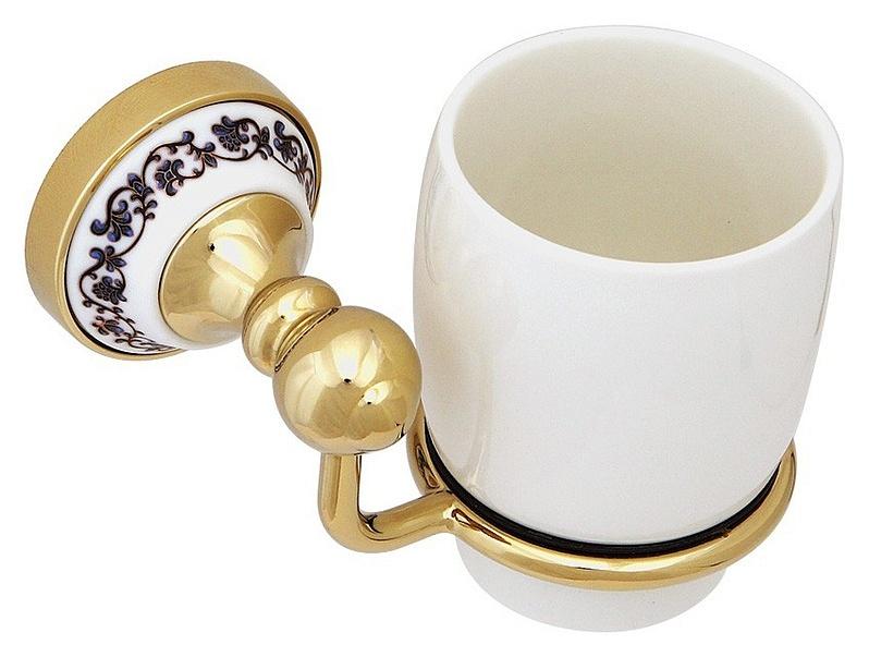 Стакан для зубных щеток Fixsen Bogema Gold FX-78506G Золото Белый стакан для зубных щеток fixsen bogema gold fx 78506g золото белый