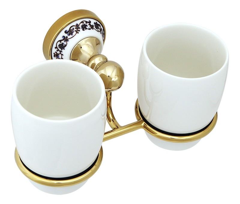 Стакан для зубных щеток Fixsen Bogema Gold FX-78507G Золото Белый стакан для зубных щеток fixsen bogema gold fx 78506g золото белый