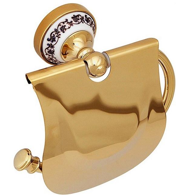 Держатель туалетной бумаги Fixsen Bogema Gold FX-78510G Золото Белый держатель запасной туалетной бумаги fixsen bogema gold fx 78510bg золото белый