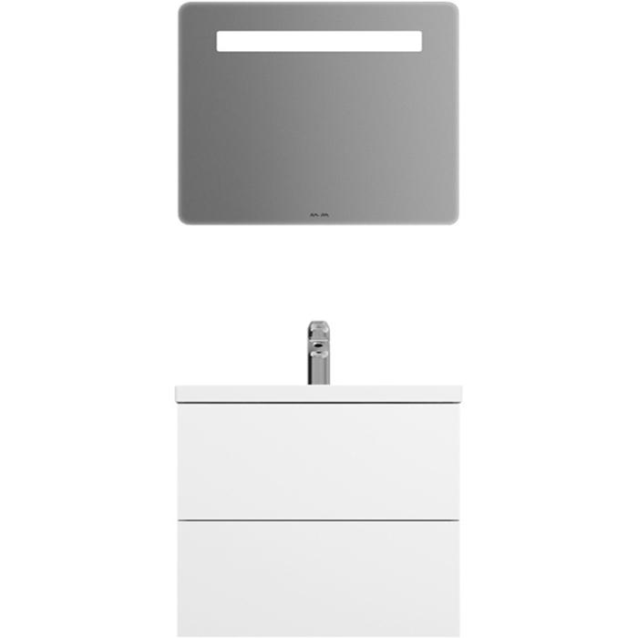 Gem 75 подвесной ОрехМебель для ванной<br>Комплект мебели AM PM Gem 75 с подвесной тумбой Gem 75 M90FHX07522NF цвета орех, с фактурной поверхностью, с двумя выдвижными ящиками, с фарфоровой раковиной Gem 75 M90WCC0752WG, с зеркалом Gem 80 M90MOX0801WG с LED подсветкой. Для длительного срока службы в ванных комнатах с повышенной влажностью.<br>Тумба:<br>Дизайн от инновационной компании DanelonMeroni.<br>Безупречный баланс между функциональностью и дизайном.<br>Компактное решение: узкая база с глубокими ящиками.<br>Материал: высококачественный ДСП.<br>Покрытие: долговечные итальянские краски и эмали.<br>Специальная технология покраски в семь слоев.<br>Насыщенный цвет в течение всего срока службы.<br>Экологически чистые материалы.<br>Монтаж: подвесной, крепление к стене на двух навесах.<br>Удобный демонтаж без помощи инструментов, легкая регулировка.<br>Отделения:<br>верхнее: выдвижной ящик, разделители для удобного хранения;<br>нижнее: выдвижной ящик, один отсек.<br>Система Push to Open: ящики открываются нажатием на любую их часть.<br>Система Soft-Close: доводчики для плавного закрывания.<br>Максимальная нагрузка на ящик в сегменте: до 35 кг.<br>Надёжное соединение направляющей и ящика при помощи фиксатора.<br>Зеркало: <br>Подсветка: верхняя, LED, выключатель. <br>Монтаж: подвесной, крепление к стене на двух навесах.<br>Раковина:<br>Материал: сантехнический фарфор. Покрытие: глазурь. <br>Гигиеничная, износостойкая, плотная и гладкая поверхность.<br>Одно готовое отверстие под смеситель, перелив. <br>В комплекте поставки:<br>тумба Gem 75 M90FHX07522NF;<br>зеркало Gem 80 M90MOX0801WG;<br>раковина Gem 75 M90WCC0752WG.<br>