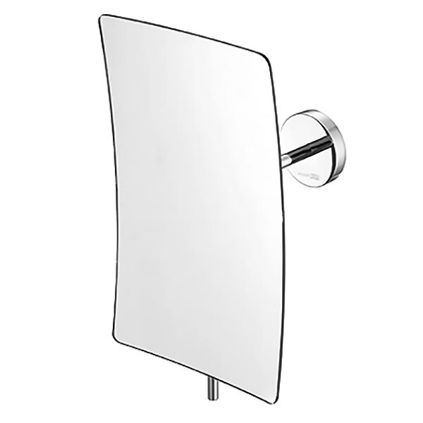 K-1001 с увеличением ХромАксессуары для ванной<br>Одностороннее настенное косметическое зеркало Wasser Kraft K-1001.<br>Изготовлено из латуни с хромоникелевым покрытием.<br>Особенности:<br>Трехкратное увеличение.<br>Вращение зеркала на 360 градусов.<br>Наклон регулируется при помощи ручки. Благодаря этому на поверхности зеркала не остаются отпечатки пальцев.<br>Надежное крепление к стене.<br>