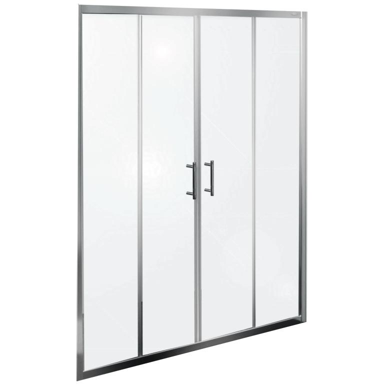 Q line TV/4D 150 ХромДушевые ограждения<br>Душевая дверь в нишу Kolpa San Q line TV/4D 150 с двумя раздвижными дверцами.<br><br>Профиль:<br>Материал: алюминий.<br>Цвет профиля: хром.<br>Покрытие Silver Brill: высококачественная гальваническая полировка.<br>Высокая герметичность.<br>Магнитный профиль.<br><br>Стекло:<br>Прозрачное закаленное стекло.<br>Толщина: 6 мм.<br>Двойные съемные ролики обеспечивают плавное открытие и закрытие дверцы.<br><br>Непревзойденное качество, подтвержденное европейским сертификатом.<br>