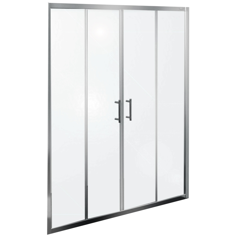 Q line TV/4D 160 ХромДушевые ограждения<br>Душевая дверь в нишу Kolpa San Q line TV/4D 160 с двумя раздвижными дверцами.<br><br>Профиль:<br>Материал: алюминий.<br>Цвет профиля: хром.<br>Покрытие Silver Brill: высококачественная гальваническая полировка.<br>Высокая герметичность.<br>Магнитный профиль.<br><br>Стекло:<br>Прозрачное закаленное стекло.<br>Толщина: 6 мм.<br>Двойные съемные ролики обеспечивают плавное открытие и закрытие дверцы.<br><br>Непревзойденное качество, подтвержденное европейским сертификатом.<br>