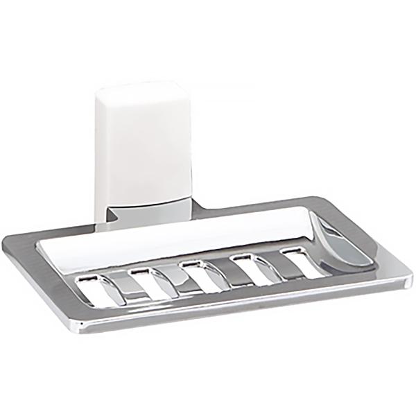 Leine К-5069WHITE настенная ХромАксессуары для ванной<br>Мыльница-решетка WasserKRAFT Leine К-5069WHITE с настенным креплением.<br>Универсальный и лаконичный дизайн изделия впишется в любой интерьер ванной комнаты.<br>Материал: металл с хромоникелевым покрытием, пластик.<br>Цвет: хром, белый.<br>