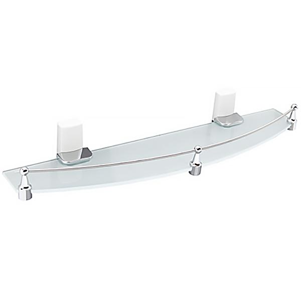 Leine К-5024WHITE ХромАксессуары для ванной<br>Стеклянная полка Wasser Kraft Leine К-5024WHITE с настенным креплением.<br>Универсальный и лаконичный дизайн изделия впишется в любой интерьер ванной комнаты.<br>Полочка изготовлена из закаленного матового стекла. Материал держателя - металл с хромоникелевым покрытием, пластик.<br>Цвет: хром, белый.<br>