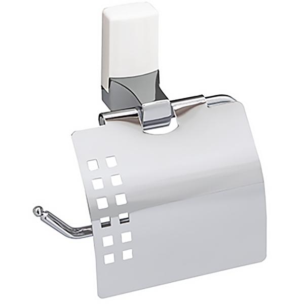 Держатель туалетной бумаги WasserKRAFT Leine К-5025WHITE Хром держатель туалетной бумаги wasserkraft leine k 5025white