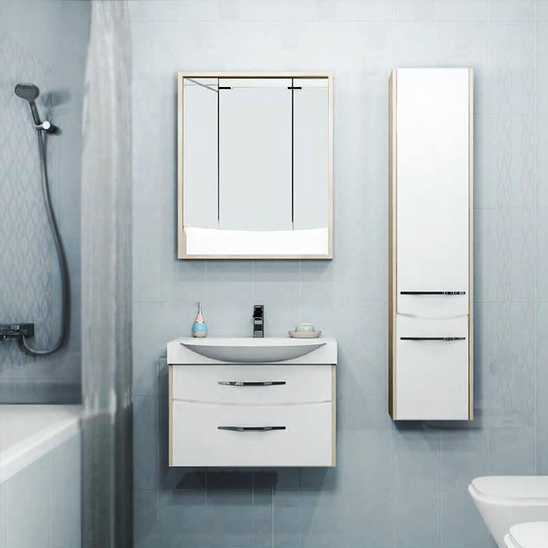 Инфинити 76 подвесная БелаяМебель для ванной<br>Подвесная тумба под раковину Акватон Инфинити 76 1A192001IF010 белая, с двумя выдвижными ящиками, с изящными хромированными ручками бельгийского производителя Metakor. Для использования в ванных комнатах с повышенной влажностью.<br><br>Стильный и лаконичный дизайн.<br>Изгибы фасадных линий повторяют форму лицевой фурнитуры.<br>Материал фасада: МДФ с пятислойной покраской.<br>Материал корпуса: ДСП с ламинированным покрытием.<br>Повышеная влагостойкость и сопротивляемость износу.<br>Стойкость к воздействиям бытовых химических средств.<br>Отсутствие вредных испарений.<br>Монтаж: подвесной, крепление к стене на двух навесах.<br>Предусмотрено нижнее подключение труб водоснабжения и канализации.<br><br><br>Отделения:<br>два выдвижных ящика.<br>Система плавного закрывания.<br><br><br>В комплекте поставки:<br>тумба.<br><br>