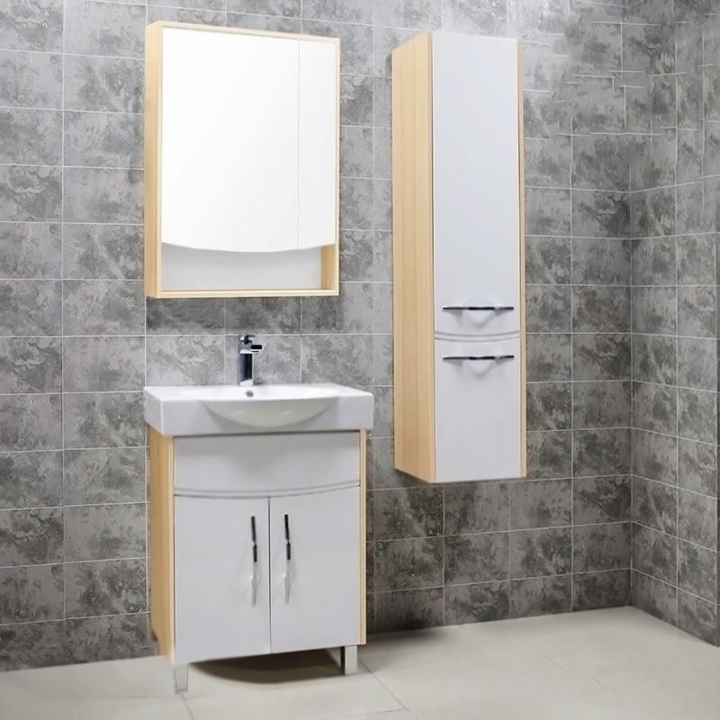 Инфинити 65 H БелаяМебель для ванной<br>Тумба под раковину Акватон Инфинити 65 H 1A197201IF010 белая, с двумя распашными дверцами, на двух ножках, с изящными хромированными ручками бельгийского производителя Metakor. Для использования в ванных комнатах с повышенной влажностью.<br><br>Стильный и лаконичный дизайн, изгогнутые фасадные линии.<br>Материал фасада: МДФ с пятислойной покраской.<br>Материал корпуса: ДСП с ламинированным покрытием.<br>Повышеная влагостойкость и сопротивляемость износу.<br>Стойкость к воздействиям бытовых химических средств.<br>Отсутствие вредных испарений.<br>Монтаж: комбинированный.<br>Крепление к стене: два навеса.<br>Дополнительные напольные опоры: две ножки.<br>Предусмотрено нижнее подключение труб водоснабжения и канализации.<br><br><br>Отделение:<br>две распашные дверцы.<br>Доводчики для плавного закрывания.<br><br><br>В комплекте поставки:<br>тумба.<br><br>