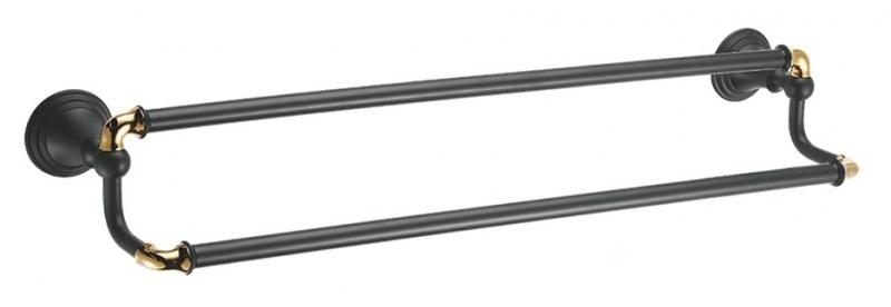 Держатель для полотенец Fixsen Luksor FX-71602B Черный Золото