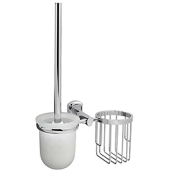Oder K-3035 ХромАксессуары для ванной<br>Ершик для унитаза с держателем освежителя воздуха Wasser Kraft Oder K-3035 с настенным креплением.<br>Функциональная модель для ванных комнат в современном стиле.<br>Выполнен из металла с хромоникелевым покрытием. Устойчив к потускнению и царапинам, долго сохраняет зеркальный блеск.<br>Чаша для ершика изготовлена из матового стекла.<br>Монтаж: при помощи монтажной пластины. <br>В комплекте поставки: подвесной держатель, ершик для унитаза, набор креплений.<br>