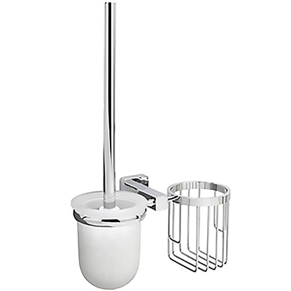 Lippe K-6535 ХромАксессуары для ванной<br>Ершик для унитаза с держателем освежителя воздуха WasserKRAFT Lippe K-6535 с настенным креплением.<br>Функциональная модель для ванных комнат в современном стиле.<br>Выполнен из металла с хромоникелевым покрытием. Устойчив к потускнению и царапинам, долго сохраняет зеркальный блеск.<br>Чаша для ершика изготовлена из матового стекла.<br>Монтаж: при помощи монтажной пластины. <br>В комплекте поставки: подвесной держатель, ершик для унитаза, набор креплений.<br>