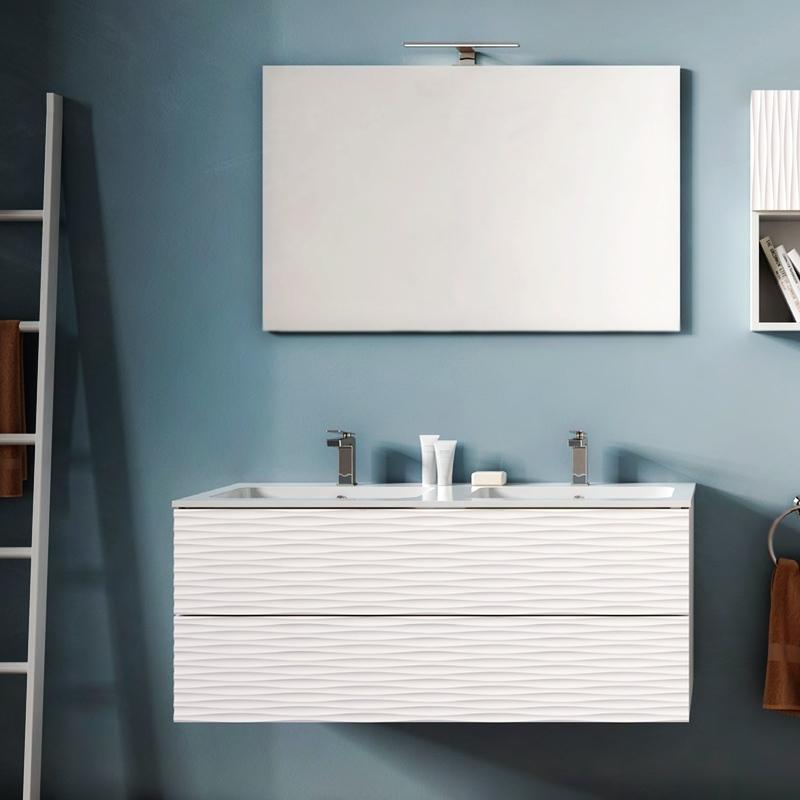 Bali 120 подвесная Белая матоваяМебель для ванной<br>Подвесная тумба под раковину Cezares Bali 120 BA/BS1202.601 белая, c матовой поверхностью, с двумя выдвижными ящиками. Для использования в ванных комнатах с повышенной влажностью.<br><br>Изысканность, функциональность и эргономика.<br>3D фрезеровка фасада.<br>Цвет: белый матовый (bianco opaco).<br>Материал: массив твердолиственных пород ореха.<br>Многослойное износоустойчивое и влагозащищенное лакокрасочное покрытие.<br>Монтаж: подвесной, крепление к стене.<br><br><br>Отделения:<br>два выдвижных ящика.<br>Система плавного закрывания.<br>Система Push/Pull: ящики открываются нажатием на фасад.<br><br><br>В комплекте поставки:<br>тумба.<br><br>