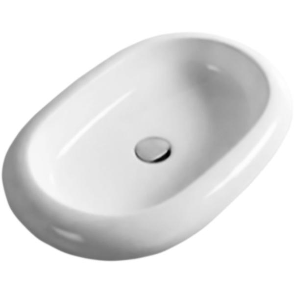 65 CR-1065W БелаяРаковины<br>Раковина-чаша Cezares 65 CR-1065W белая, овальная, накладная.<br><br>Материал: высококачественная сантехническая керамика.<br>Покрытие: глазурь.<br>Износостойкая, гигиеничная и плотная поверхность.<br>Неприхотливость в уходе.<br>Монтаж: накладной, крепление к столешнице.<br><br><br>В комплекте поставки:<br>чаша умывальника.<br><br>