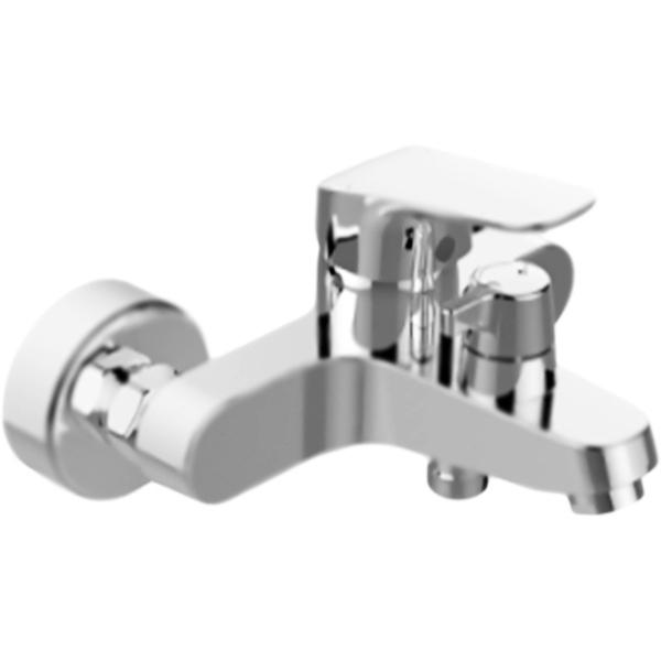 Ceraflex B1740AA ХромСмесители<br>Настенный смеситель для ванны Ideal Standard Ceraflex B1740AA однорычажный, с аэратором, монтируемый в два отверстия.<br><br>Современное решение: элегантность, функциональность, экономия.<br>Безупречный баланс между дизайном и качеством.<br>Простота в обслуживании.<br>Технология Click: механическая остановка потока, позволяет уменьшить расход на 50 процентов.<br>Безопасность: контроль над температурой воды в любой момент времени.<br>Система быстрой установки EasyFix.<br>Стойкое покрытие: глянцевый хром.<br>Материал: высококачественная латунь.<br>Фиксированный излив с регулировкой: L 16,2-17,1 см.<br>Механизм: керамический картридж, D 4 см.<br>Переключатель потоков: душ/излив, керамический, механический.<br>Обратный клапан: защита от обратного потока.<br>Подсоединение шланга: нижнее.<br>Стандарт подключения: G1/2.<br>Расстояние между центрами креплений: 15+/-2,3 см.<br><br><br>В комплекте поставки:<br>смеситель;<br>комплект креплений (S-Connectors).<br><br>