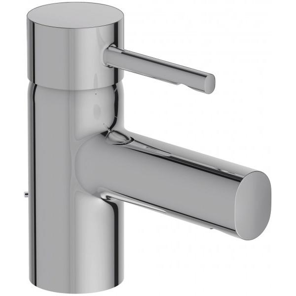 Cuff E37301-CP ХромСмесители<br>Смеситель для раковины Jacob Delafon Cuff E37301-CP однорычажный с донным клапаном..<br>Простой и изящный смеситель для ванной комнаты в современном или минималистичном стиле.<br>Материал: латунь.<br>Покрытие: хром.<br>Керамический картридж.<br>Донный клапан с боковым рычагом.<br>Аэратор с технологией защиты от известковых отложений.<br>Точная регулировка снижает колебания температуры воды.<br>Экономия воды: уменьшенный расход при оптимальной производительности.<br>Расход: 5 л/мин.<br>Стандарт подводки: G 3/8.<br>В комплекте поставки: <br>Смеситель,<br>Донный клапан,<br>Набор креплений, <br>Гибкая подводка.<br>