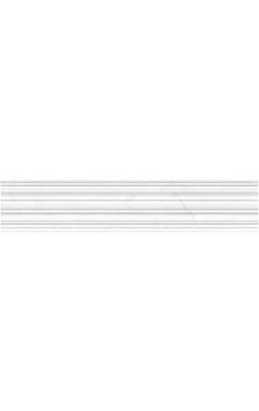 Керамический бордюр Golden Tile Absolute Modern Белый рельеф 30х6 см
