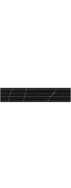 Керамический бордюр Golden Tile Absolute Modern Черный рельеф 30х6 см