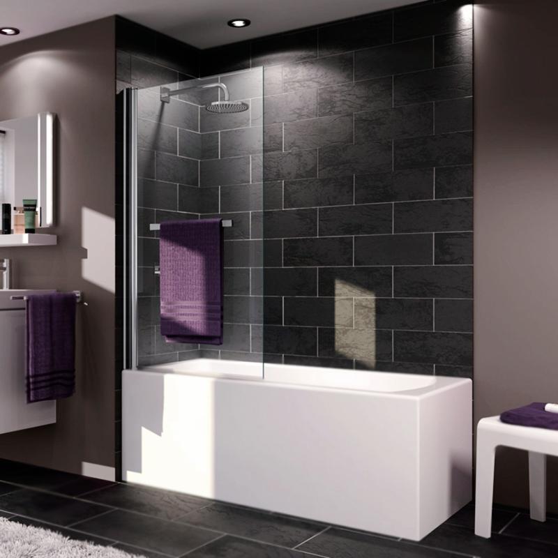 X1 75x140 матовый Хром прозрачноеДушевые ограждения<br><br>Стеклянная шторка на ванну Huppe X1 75 односекционная, распашная, с хромированным полотенцедержателем.<br><br><br>Витраж: прозрачный.<br>Цвет профиля: матовый хром.<br>Материал витража: безосколочное ударопрочное стекло.<br>Толщина стекла: 0,4 см.<br>Материал профиля: анодированный алюминий.<br>Распашная секция: поворот на 180 градусов.<br>Универсальная ориентация: установка справа или слева.<br><br><br>В комплекте поставки:<br>шторка на ванну;<br>полотенцедержатель;<br>комплект креплений.<br><br>