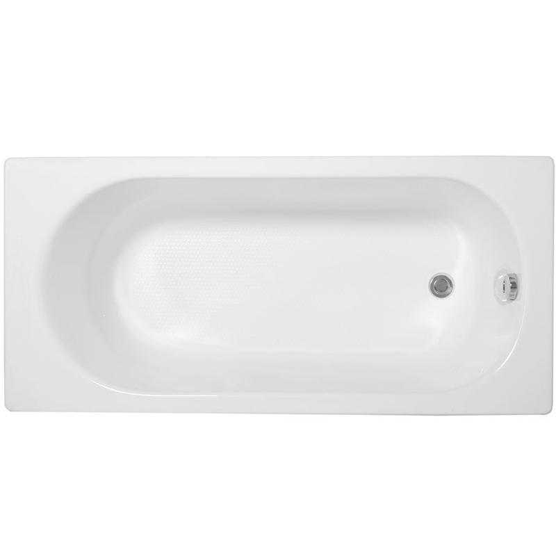 Gloria 150x70 без гидромассажаВанны<br>Акриловая ванна Aquanet Gloria 150x70 прямоугольная.<br>Вместительная ванна с изящным дизайном дополнит интерьер ванной комнаты в современном стиле.<br>Изготовлена из качественного акрила: гладкого и теплого на ощупь материала. Он быстро нагревается и долго сохраняет тепло воды. Благодаря отсутствию пор на поверхности не скапливается грязь и микробы.<br>Антискользящее покрытие (специальные насечки на дне ванны).<br>Удобный угол наклона спинки.<br>Размер: 150x70x61,5 см.<br>Глубина: 42 см.<br>Объем: 170 л.<br>В комплекте поставки: ванна, каркас.<br>