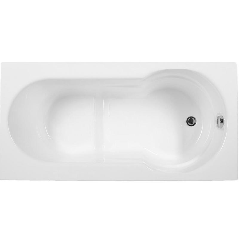 Largo 130x70 без гидромассажаВанны<br>Акриловая ванна Aquanet Largo 130x70 прямоугольная сидячая.<br>Вместительная ванна с изящным дизайном дополнит интерьер ванной комнаты в современном стиле.<br>Изготовлена из качественного акрила: гладкого и теплого на ощупь материала. Он быстро нагревается и долго сохраняет тепло воды. Благодаря отсутствию пор на поверхности не скапливается грязь и микробы.<br>Антискользящее покрытие (специальные насечки на дне ванны).<br>Порожек высотой 7 см, который можно использовать, как сиденье.<br>Удобный угол наклона спинки, позволяющий принимать ванну как сидя, так и лежа.<br>Расширение чаши с одной стороны.<br>Размер: 130x70x62 см.<br>Глубина: 41 см.<br>Объем: 140 л.<br>В комплекте поставки: ванна, каркас, слив-перелив.<br>