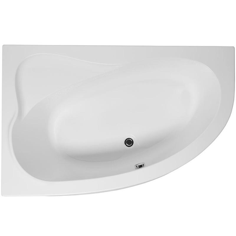 Luna 155x100 без гидромассажа RВанны<br>Акриловая ванна Aquanet Luna 155x100 R асимметричной формы.<br>Правосторонняя.<br>Вместительная ванна с изящным дизайном дополнит интерьер ванной комнаты в современном стиле.<br>Изготовлена из качественного акрила: гладкого и теплого на ощупь материала. Он быстро нагревается и долго сохраняет тепло воды. Благодаря отсутствию пор на поверхности не скапливается грязь и микробы.<br>Антискользящее покрытие (специальные насечки на дне ванны).<br>Удобный угол наклона спинки.<br>С сиденьем.<br>Размер: 155x100x64,5 см.<br>Глубина: 45,5 см.<br>Объем: 230 л.<br>В комплекте поставки: ванна, каркас.<br>