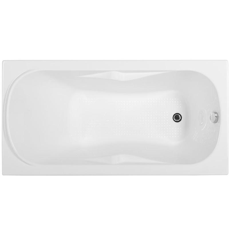 Rosa 150x75 с гидромассажемВанны<br>Акриловая ванна Aquanet Rosa 150x75 00195667 прямоугольная.<br>Вместительная ванна с изящным дизайном дополнит интерьер ванной комнаты в современном стиле.<br>Изготовлена из качественного акрила: гладкого и теплого на ощупь материала. Он быстро нагревается и долго сохраняет тепло воды. Благодаря отсутствию пор на поверхности не скапливается грязь и микробы.<br>Антискользящее покрытие (специальные насечки на дне ванны).<br>Удобный угол наклона спинки.<br>Размер: 150x75x65,5 см.<br>Глубина: 40,5 см.<br>Объем: 150 л.<br>Гидромассажная система:<br>Плоские форсунки, плотно прилегающие к поверхности ванны. Ручная регулировка направления потока воды, индивидуальное включение или выключение каждой форсунки. <br>6 гидромассажных форсунок диаметром 77 мм.<br>Материал: латунь.<br>Цвет: хром.<br>В комплекте поставки: ванна, каркас, гидромассажная система.<br>