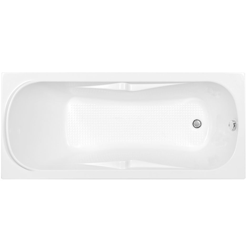 Rosa 170x75 с гидромассажемВанны<br>Акриловая ванна Aquanet Rosa 170x75 00185102 прямоугольная.<br>Вместительная ванна с изящным дизайном дополнит интерьер ванной комнаты в современном стиле.<br>Изготовлена из качественного акрила: гладкого и теплого на ощупь материала. Он быстро нагревается и долго сохраняет тепло воды. Благодаря отсутствию пор на поверхности не скапливается грязь и микробы.<br>Антискользящее покрытие (специальные насечки на дне ванны).<br>Удобный угол наклона спинки.<br>Размер: 170x75x64,5 см.<br>Глубина: 38,5 см.<br>Объем: 180 л.<br>Гидромассажная система:<br>Плоские форсунки, плотно прилегающие к поверхности ванны. Ручная регулировка направления потока воды, индивидуальное включение или выключение каждой форсунки. <br>6 гидромассажных форсунок диаметром 77 мм.<br>Материал: латунь.<br>Цвет: хром.<br>В комплекте поставки: ванна, каркас, гидромассажная система.<br>