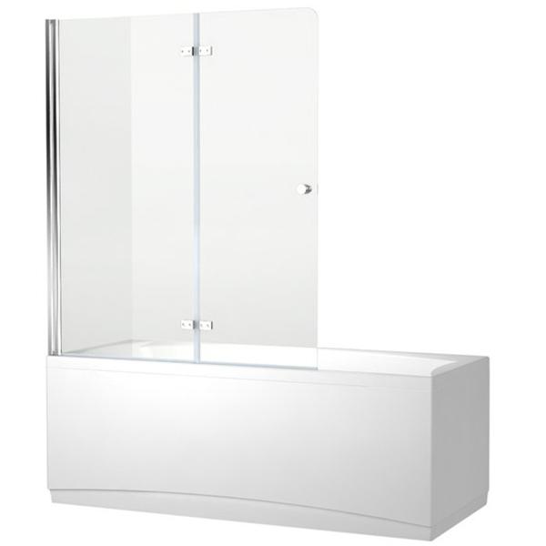 Шторка для ванны Aquanet Beta 4 NF6222 Hinge 122x140 стекло прозрачное