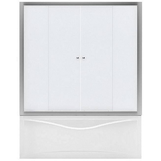 AQ5 160x140 стекло узорчатоеДушевые ограждения<br>Шторка для ванны Aquanet AQ5 160x140 00175831 с двумя раздвижными дверцами. Предотвращает расплескивание воды на пол и дополняет интерьер ванной комнаты.<br>Универсальная.<br>Профиль: <br>Изготовлен из алюминия.<br>Противокоррозийное покрытие.<br>Легкая установка.<br>Плавный ход благодаря двойным роликам.<br>Крепление к вертикальной стене и на борт ванны.<br>Стекло:<br>Непрозрачное закаленное стекло. <br>Текстурированное на ощупь, с небольшими выпуклостями.<br>Толщина: 5 мм. <br>Бесшумное открытие и закрытие.<br>Хорошая защита от шума и влаги.<br>Объем поставки: душевая шторка, комплект креплений.<br>