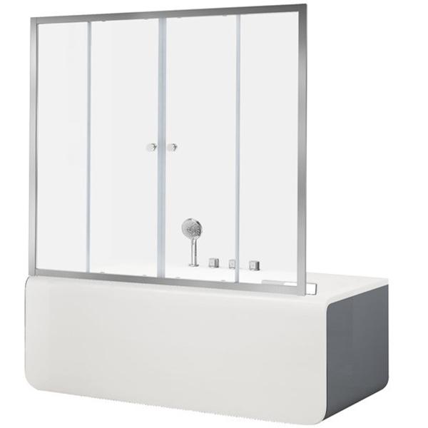 Alfa 5 NAA6142 170x140 прозрачное стеклоДушевые ограждения<br>Шторка для ванны Aquanet Alfa 5 NAA6142 170x140 00196046 с двумя раздвижными дверцами. Предотвращает расплескивание воды на пол и дополняет интерьер ванной комнаты.<br>Универсальная.<br>Профиль: <br>Изготовлен из алюминия.<br>Противокоррозийное покрытие.<br>Легкая установка.<br>Плавный ход благодаря двойным роликам.<br>Крепление к вертикальной стене и на борт ванны.<br>Стекло:<br>Прозрачное закаленное стекло. <br>Покрытие EasyClean: препятствует образованию подтеков. Облегчает уборку и позволяет стеклу дольше оставаться чистым.<br>Толщина: 6 мм. <br>Бесшумное открытие и закрытие.<br>Хорошая защита от шума и влаги.<br>Объем поставки: душевая шторка, комплект креплений.<br>