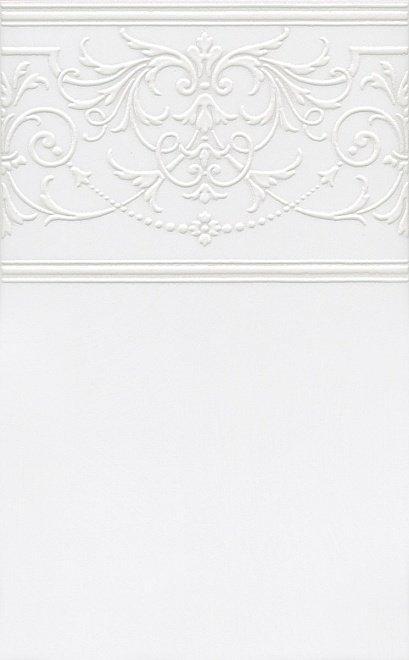 Керамический декор Kerama Marazzi Петергоф белый STGA5616304 25х40 см керамический декор kerama marazzi петергоф овал obc001 8 5х12 5 см