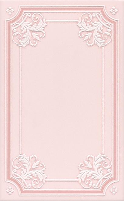 Керамический декор Kerama Marazzi Петергоф розовый STGC5606306 25х40 см керамический декор kerama marazzi петергоф овал obc001 8 5х12 5 см