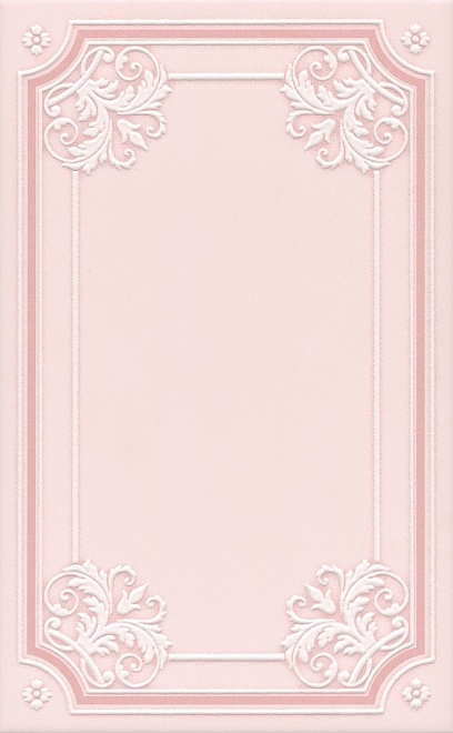 Керамический декор Kerama Marazzi Петергоф розовый STGC5606306 25х40 см керамический багет kerama marazzi каподимонте голубой blc004 5х30 см