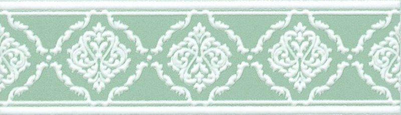 Керамический бордюр Kerama Marazzi Петергоф зелёный STGD5626307 25х7,7 см керамический багет kerama marazzi каподимонте голубой blc004 5х30 см