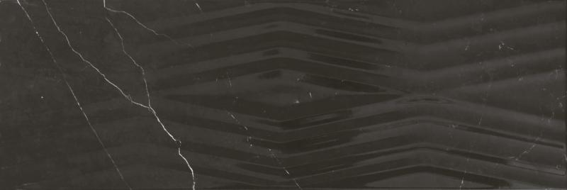 Керамическая плитка Gracia Ceramica Geneva black 02 настенная 25х75 см фото