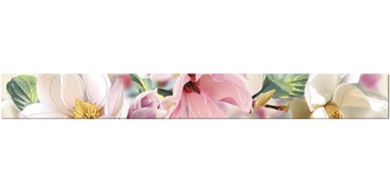 Керамический бордюр Azori Boho Magnolia 7,5х63 см