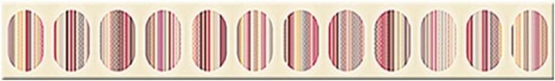Керамический бордюр Azori Boho Mocca Geometry 7,5х63 см