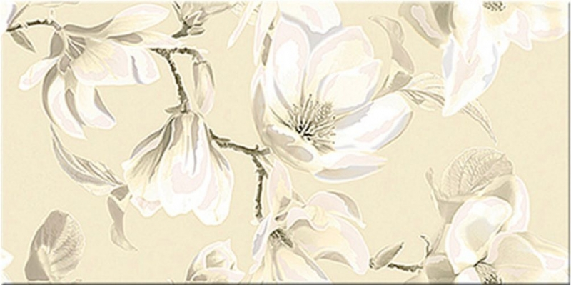 Керамический декор Azori Boho Latte Magnolia 31,5х63 см