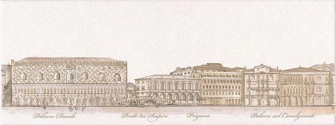 Керамический декор Kerama Marazzi Сафьян Панорама Venezia STGA57815061 15х40 см стоимость