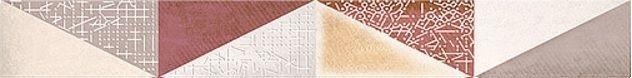 Керамический бордюр Azori Eclipse Marsala mix 6,2х50,5 см бордюр azori arte