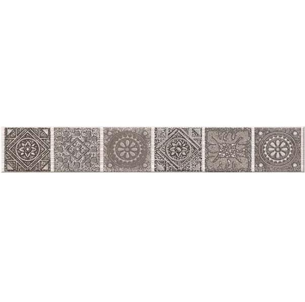 Керамический бордюр Azori Grazia Mocca Nefertiti 6,2х40,5 см бордюр azori grazia grey nefertiti 6 2х40 5 см