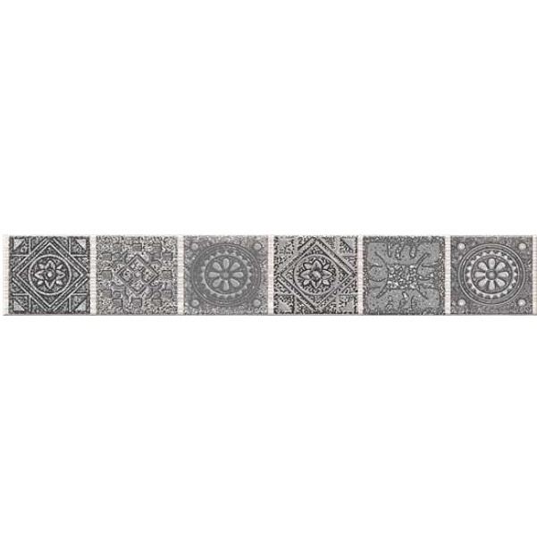Керамический бордюр Azori Grazia Grey Nefertiti 6,2х40,5 см бордюр azori grazia grey nefertiti 6 2х40 5 см