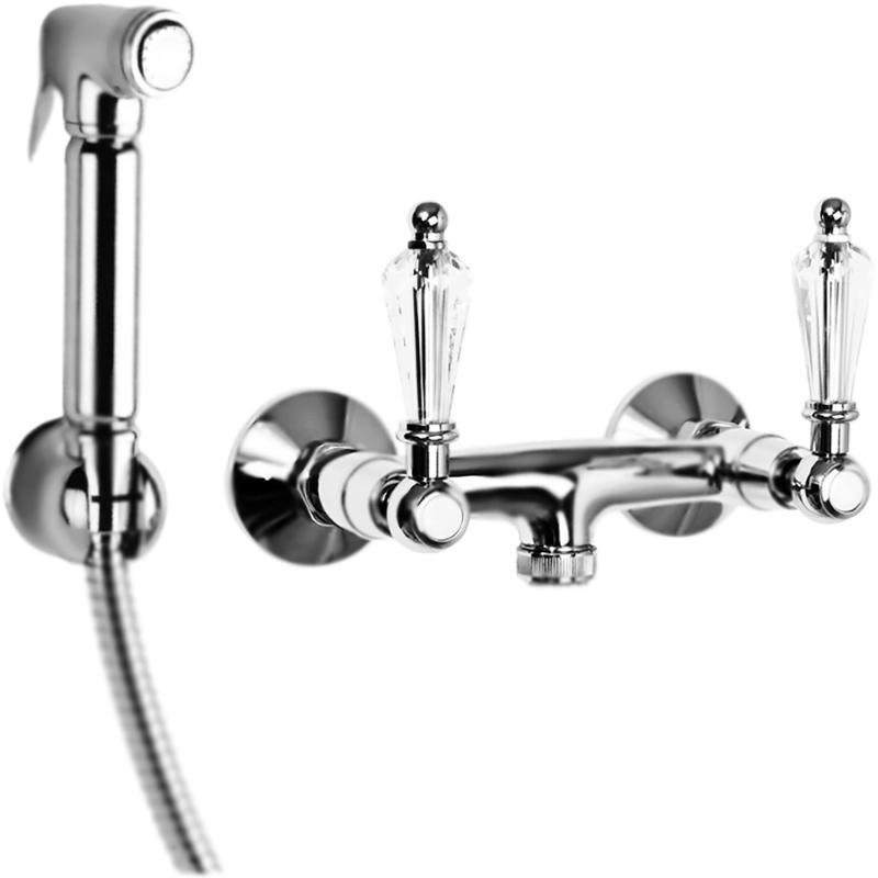 Гигиенический душ Cezares Diamond DIAMOND-DIF прозрачные ручки Хром фото