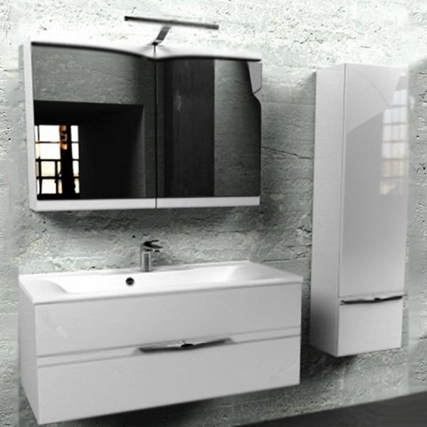 Concorde 100 подвесная БелаяМебель для ванной<br><br>Подвесная тумба под раковину Edelform Concorde 100 1-686-00-PR100 белая глянцевая, с двумя выдвижными ящиками. Предназначена для использования в ванных комнатах с повышенной влажностью.<br><br><br>Простые плавные линии без лишних деталей.<br>Сочетание комфорта и функциональности.<br>Безопасность: экологически чистые составляющие.<br>Материал: МДФ повышенной плотности.<br>Многослойное покрытие Edelform Crystal: итальянская эмаль Milesi.<br>Метод запекания кромки Waterproof: влагостойкость и долговечность.<br>Фурнитура: глянцевый хром.<br>Монтаж: подвесной, крепление к стене.<br><br><br>Отделения:<br>два выдвижных ящика на стальных направляющих Edelform.<br>Встроенные доводчики для плавного движения.<br><br><br>В комплекте поставки:<br>тумба.<br>Поставляется в собранном виде.<br><br>