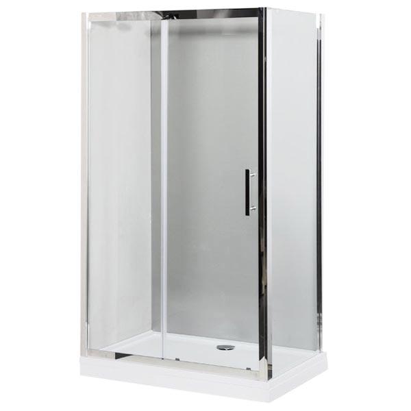Delta NPE1131 140x80 профиль Хром, стекло прозрачноеДушевые ограждения<br>Душевой уголок Aquanet Delta NPE1131 140x80 устанавливается в углу ванной комнаты. Монтаж душевого уголка возможен как на поддон, так и непосредственно на пол, оборудованный для душа. Раздвижная стеклянная дверь из высокопрочного стекла легко передвигается от центра в сторону стены на двойном усиленном ролике с металлическим подшипником. Профиль из нержавеющей стали, цвет хром. <br><br>Стекло душевого уголка Акванет Дельта имеет инновационное покрытие Easy Clean, препятствующее скоплению капель воды и загрязнений на шторке. <br><br>Душевой уголок имеет универсальную ориентацию и может устанавливаться как в левый, так и в правый угол.<br><br>Состав комплектации: стекло - 8 мм, профиль и детали шторки - нержавеющая сталь.<br>