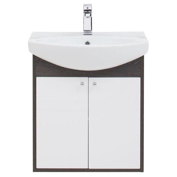 Грейс 60 подвесная Дуб кантенбериМебель для ванной<br>Тумба под раковину Aquanet Грейс 60 00198372.<br><br>Тумба создает контрастные сочетания с белым фасадом установленного по типу вкладного, в окружении торцевых частей корпуса смотрится словно в элегантной рамке.<br>Материал корпуса: Влагостойкий ЛДСП.<br>Материал фасада: МДФ.<br>Покрытие корпуса: Ламинат/фактура.<br>Покрытие фасада: Краска/глянец.<br>Цвет фурнитуры: Хром.<br>Конструкция дверей: Распашные/Раздвижные.<br>Количество дверок: 2.<br>Тип дверок: распашные.<br>Количество полок: 2.<br>Оснащение: Механизм доводчика/метабоксы.<br>Цвет корпуса: Дуб кантенбери.<br>Цвет фасада: Белый.<br><br>