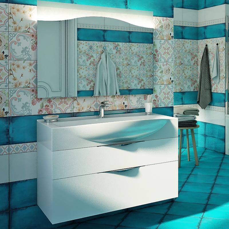Dolce 105 подвесная Белый глянецМебель для ванной<br>Тумба под раковину Edelform Dolce 105 1-827-00-ELV105 подвесная.<br>Современная модель тумбы для ванной комнаты с двумя вместительными ящиками.<br>Изготовлена из ЛДСП.<br>Покрытие: Edelform Crystal с применением эмали Milesi (Италия).<br>Запеченная кромка корпусных деталей обеспечивает долговечность.<br>Экологическая безопасность всех материалов.<br>Выдвижные ящики со с направляющими скрытого монтажа и встроенными доводчиками.<br>Цвет фасада и корпуса: белый глянец.<br>Регулируемые навесы.<br>Монтаж: подвесная.<br>Гладкая глянцевая поверхность.<br>Габариты: 101x42x48 см.<br>В комплекте поставки: тумба. Поставляется в собранном виде.<br>