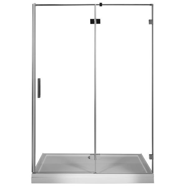 Beta NWD6221 120 L профиль Хром стекло прозрачноеДушевые ограждения<br>Стеклянная душевая дверь Aquanet Beta NWD6221 120 предназначена для обустройства душевой площадки в нише. Монтаж двери возможен как на поддон, так и непосредственно на пол, оборудованный для душа.<br>Металлическая ручка и профиль распашной двери для душа Акванет Бета NWD6221 изготовлены из нержавеющей стали с хромированным покрытием.<br>Высокопрочное каленое стекло имеет инновационное защитное покрытие Easy Clean, которое препятствует образованию подтеков и следов загрязнений на поверхности. <br>Состав комплектации: стекло толщиной 8 мм, профиль и детали шторки из нержавеющей стали.<br>