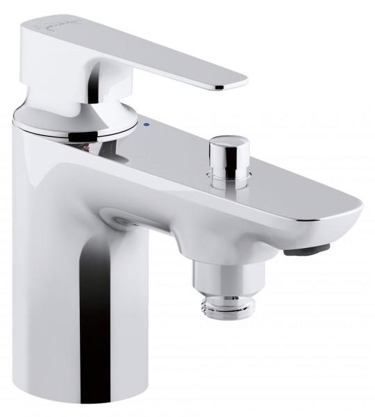 Aleo+ E72321-CP ХромСмесители<br>Смеситель для ванны и душа Jacob Delafon Aleo+ E72321-CP с фиксированным изливом.<br>Изящный однорычажный смеситель с современным дизайном.<br>Изготовлен из качественной латуни.<br>Гладкое покрытие цвета хром.<br>Точная регулировка температуры и струи.<br>Керамический катридж.<br>Стандарт подводки: G1/2.<br>В комплекте поставки: смеситель, гибкая подводка, набор креплений.<br>